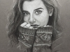 Judges Choice, Technical; Student's Choice; Best of Jury | Marissa Pieper | VISC 111 Drawing for Visualization | Self Portrait