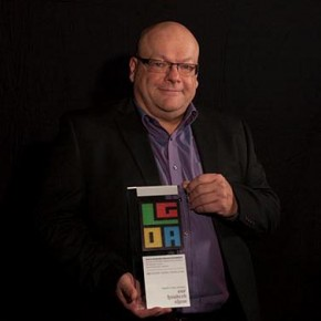 Tim Waterfill with his LGDA 100 Show Award!