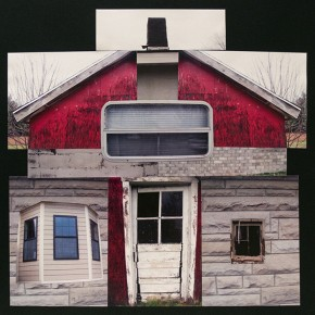 """Cody Maymon Senior, Silver Creek High School Architectural Texture 27.5"""" x 28"""" photographic collage on paper"""