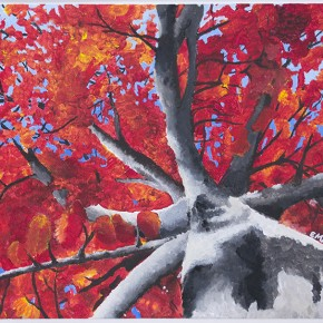 """Emily Anderson Junior, Silver Creek High School Leaves on an Autumn Tree 24.5"""" x 20.5"""""""