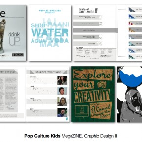 Best of Jury | Pop Culture Kids (Amanda Haas, Kasie Barnes, Gary Tunnell, Caleb Hammontree) | VISC 217 Graphic Design II | Megazine