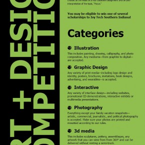 Denver Bays | Art Jam Postser (back) | Graphic Design II |Susan Mackowiak, Instructor