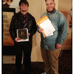 Students Denver Bays (Gold Award) and Gary Tunnell (Silver Award)