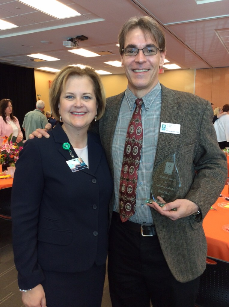 Dean Robert York pictured with Chancellor Rita Hudson Shourds.