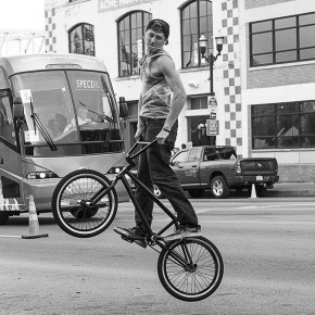 Patti Hartog  | Street Photography (Bike)  | PHOT 214 Journalistic & Editorial Photo  | Instructor: Melissa Dettlinger  | Honorable Mention