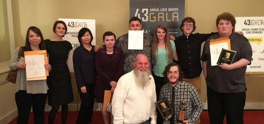 (Left to right, back to front) Angelne Brock, Lauren Carney, Kyunghwa Choi, Charity Carkuff, Noah Brown, Morgan Brinegar (and friend), Louie Herlihy, John Bailey, Craig Johnston