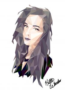 Bes | Katie Wheeler | VISC 116 Electronic Illustration | Polygonal Portrait