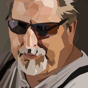 Honorable Mention | Roy Yeager | VISC 116 Electronic Illustration | Polygonal Portrait