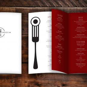 Honorable Mention | Krista Estep | VISC 113 Typography | Restaurant Menu