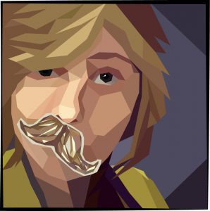 Honorable Mention | Charity Hop | VISC 216 Electronic Illustration | Low Poly Portrait